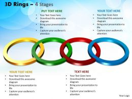 3D Rings 4 Stages Powerpoint