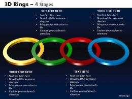3D Rings 4 Stages Powerpoint Slides And Ppt Templates 0412