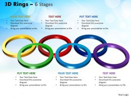3D Rings 6 Stages Powerpoint Slides And Ppt Templates 0412