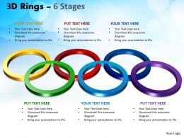 3D Rings 6 Stages Powerpoint Templates 1
