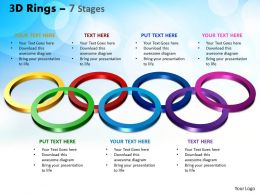 3D Rings 7 Stages Powerpoint Slides And Ppt Templates 0412