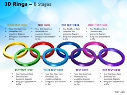3D Rings 8 Stages Powerpoint Slides And Ppt Templates 0412