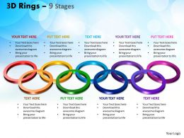 3D Rings 9 Stages Powerpoint Slides And Ppt Templates 0412