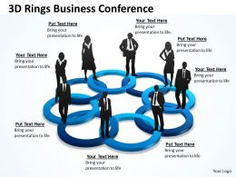 3D Rings Business Conference Powerpoint templates 2