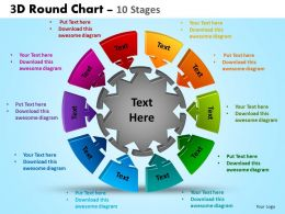 3D Round Chart 10 Stages Powerpoint Slides And Ppt Templates 0412