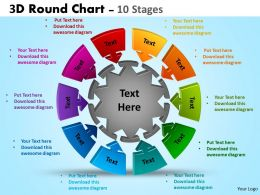 3D Round Chart 10 Stages Templates 3