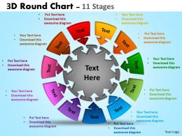 3D Round Chart 11 Stages diagram Templates 3