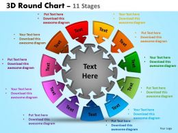 3D Round Chart 11 Stages Powerpoint Slides And Ppt Templates 0412