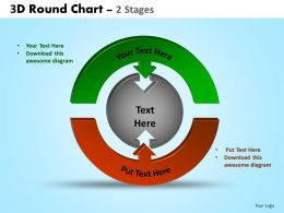3D Round Chart 2 Stages Powerpoint Slides And Ppt Templates 0412