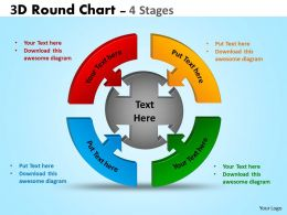 3D Round Chart 4 Stages diagram Ppt Templates 4
