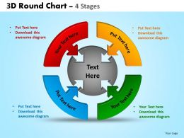 3D Round Chart 4 Stages Powerpoint Slides And Ppt Templates 0412