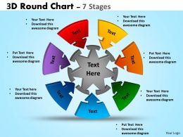 3D Round Chart 7 Stages diagram Ppt Templates 4