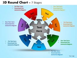 3D Round Chart 7 Stages Powerpoint Slides And Ppt Templates 0412