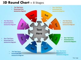 3D Round Chart 8 Stages Powerpoint Slides And Ppt Templates 0412