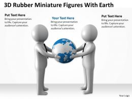 3D Rubber Miniature Figures With Earth Ppt Graphics Icons