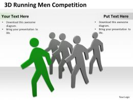 3D Running Men Competition Ppt Graphics Icons