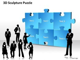 3D Sculpture Puzzle Powerpoint templates ppt presentation slides 0812