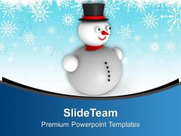 3d_snowman_with_hat_background_christmas_powerpoint_templates_ppt_backgrounds_for_slides_0113_Slide01