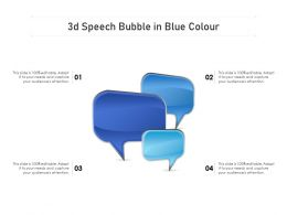 3d Speech Bubble In Blue Colour