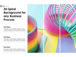 3d Spiral Background For Any Business Process