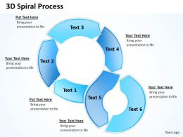 3D Spiral Process Powerpoint Slides Presentation Diagrams Templates