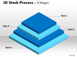 3D Stack Process With 4 Stages