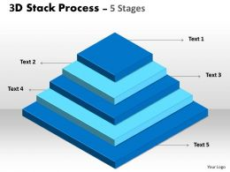 3D Stack Process With 5 stages