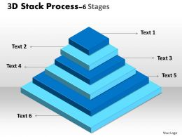 3D Stack Process With 6 stages