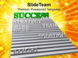 3d Stairway To Success Teamwork Powerpoint Templates Ppt Themes And Graphics 0213