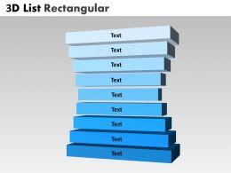 3D Steps List Diagram 13