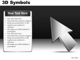 3D Symbols Powerpoint Presentation Slides DB