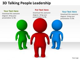 3D Talking People Leadership Ppt Graphics Icons