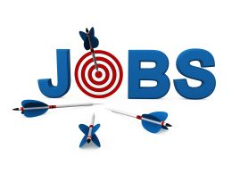 3d Target Dart Within Word Jobs And Arrows Stock Photo