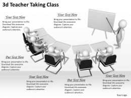 3d Teacher Taking Class Ppt Graphics Icons Powerpoint