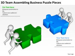 3D Team Assembling Business Puzzle Pieces Ppt Graphics Icons Powerpoint