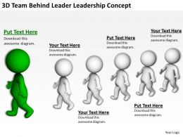 3D Team Behind Leader Leadership Concept Ppt Graphics Icons Powerpoint