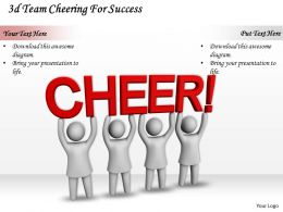 3d Team Cheering For Success Ppt Graphics Icons Powerpoint