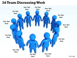 3d Team Discussing Work Ppt Graphics Icons Powerpoint