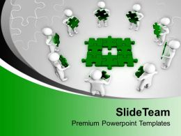 3d Team Found Solution Teamwork Concept Powerpoint Templates Ppt Themes And Graphics 0113