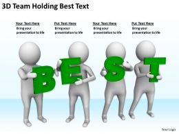 3D Team Holding Best Text Ppt Graphics Icons PowerPoint
