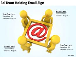 3d Team Holding Email Sign Ppt Graphics Icons Powerpoint