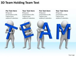 3D Team Holding Team Text Ppt Graphics Icons PowerPoint