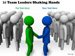 3d Team Leaders Shaking Hands Ppt Graphics Icons Powerpoint