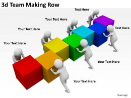 3d Team Making Row Ppt Graphics Icons Powerpoint