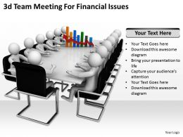 3d Team Meeting For Financial Issues Ppt Graphics Icons Powerpoint