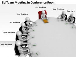 3d Team Meeting In Conference Room Ppt Graphics Icons Powerpoint