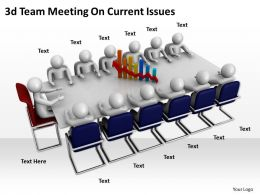 3d Team Meeting On Current Issues Ppt Graphics Icons Powerpoint