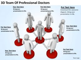 3D Team Of Professional Doctors Ppt Graphics Icons PowerPoint