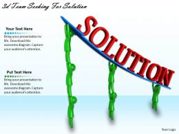 3d Team Seeking For Solution Ppt Graphics Icons Powerpoint