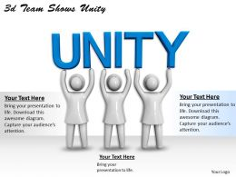 3d Team Shows Unity Ppt Graphics Icons Powerpoint